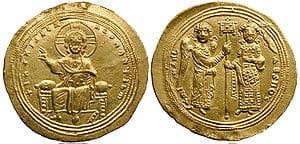 Moeda bizantina de ouro