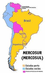 mapa mercosul