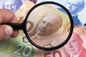 Dólar Canadense em queda