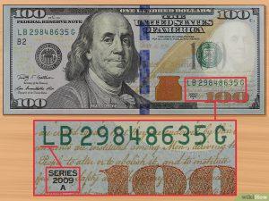 Como Saber se uma Nota de 100 Dólares é Verdadeira?