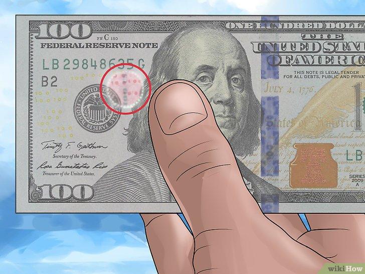 Mecanismos de segurança das notas de dólar